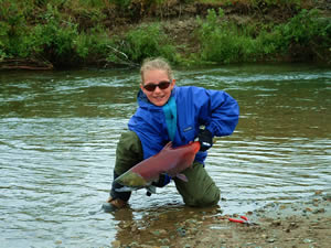 Best little Fisher-Girl of all time - Sockey Red Salmon - ALASKA RAFT CONNECTION