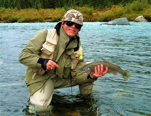 Fine Catch and Release Rainbow Trout on Lake Creek - ALASKA RAFT CONNECTION