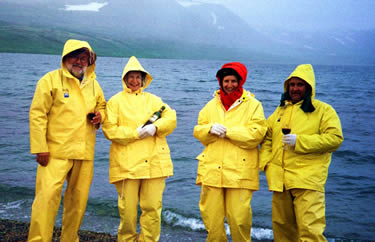 Wine Time in the old school Rain Gear - ALASKA RAFT CONNECTION