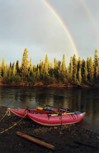 13' AIRE WILDCAT with Rainbow on Gulkana River - ALASKA RAFT CONNECTION